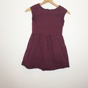 GAP burgundy polka dot dress size 10